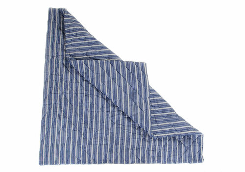 Navy Multi-Stripe Floor Quilt