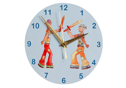 Duelling Pirates Wall Clock