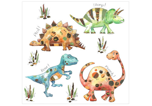 Friendly Dinosaurs Large Canvas