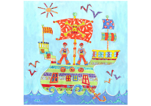 Pirate Ship Large Canvas