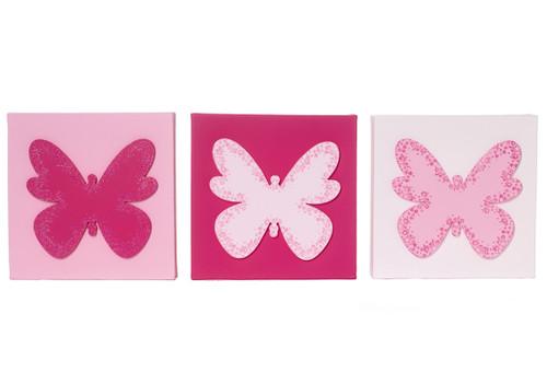 Butterflies Canvas Set