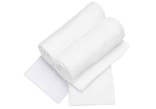 Cot Bed Bedding Starter Set in Pure White