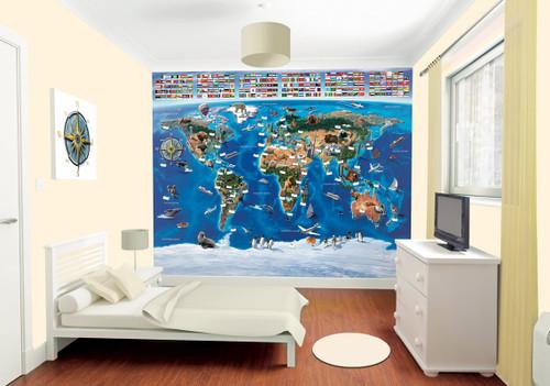 Walltastic Map of the World