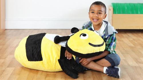 Buzz Bumble Bee Giant Softplay Floor Cushion