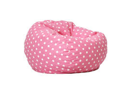 Pink Dot Bean Bag