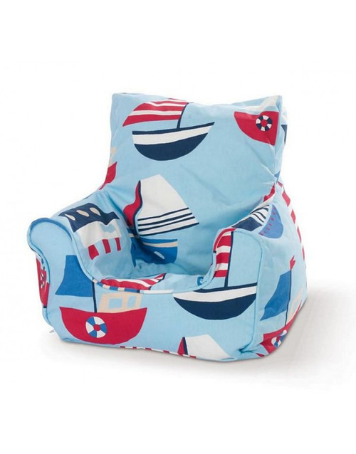 Sailboat Light Blue Bean Chair - Cover Only