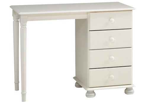 Richmond White Dressing Table, 4 Drawers