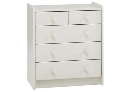 Kids Rooms' White Chest 2+3 Drawers