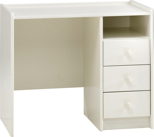 Kids Rooms' White Desk 3 Drawers