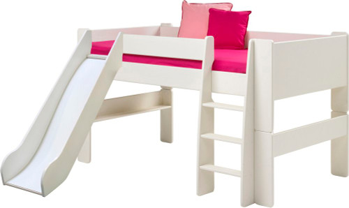 Kids Rooms' White Mid Sleeper with Slide