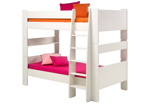 Kids Rooms' White Bunk Bed