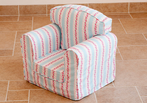 Retro Floral Taupe Armchair