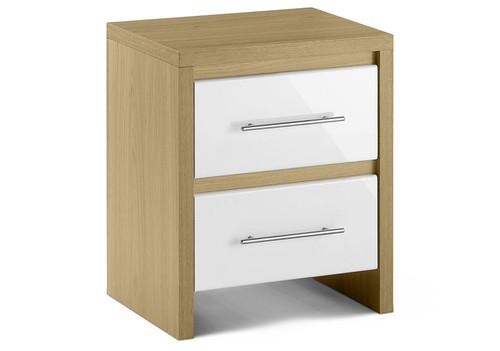 Stockholm 2 Drawer Bedside Cabinet