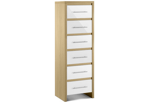 Stockholm Narrow Chest of 6 Drawers