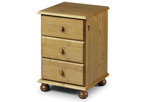 Pickwick 3 Drawer Bedside Cabinet