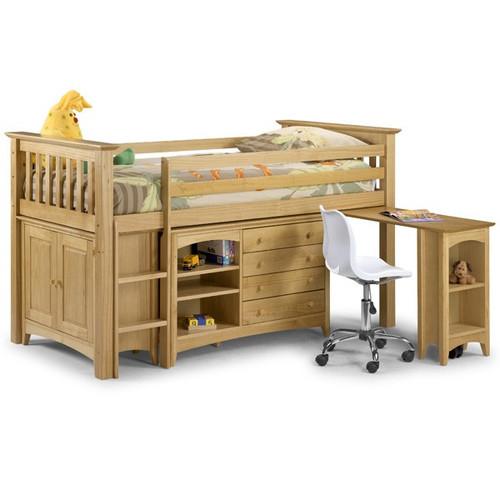 Barcelona Pine Mid Sleeper Cabin Bed