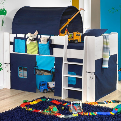 Zoloo Whitewash Mid Sleeper With Blue Tent