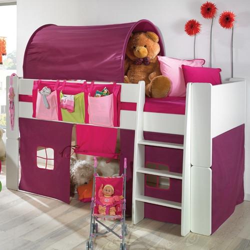 Zoloo Whitewash Mid Sleeper With Purple Tent