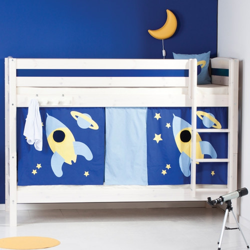 Gravity Whitewash Bunk Bed with Play Tent