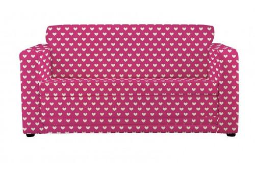 Pink Hearts Sofa Bed