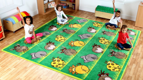 Zoo Animals Placement Carpet