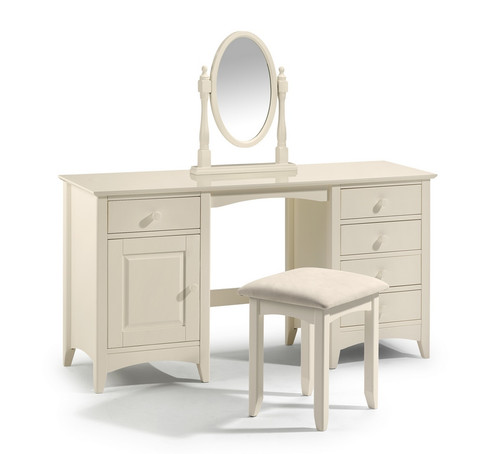 Cameo White Dressing Table and Stool