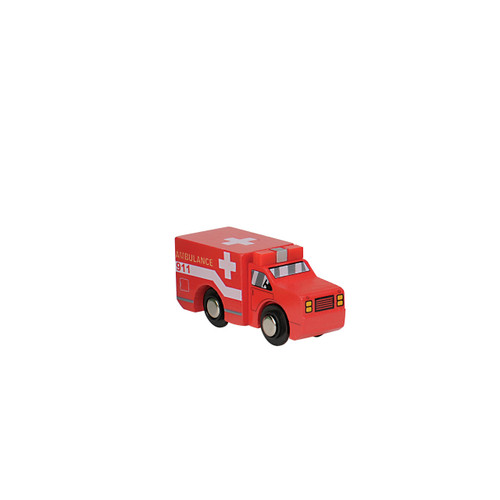 Red Wooden Ambulance