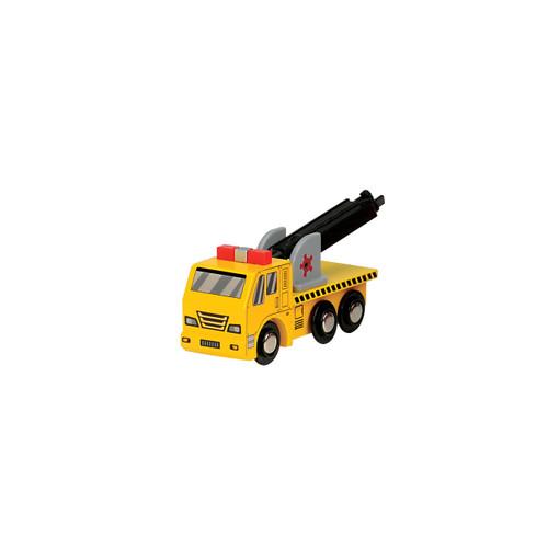 Yellow Wooden Construction Truck