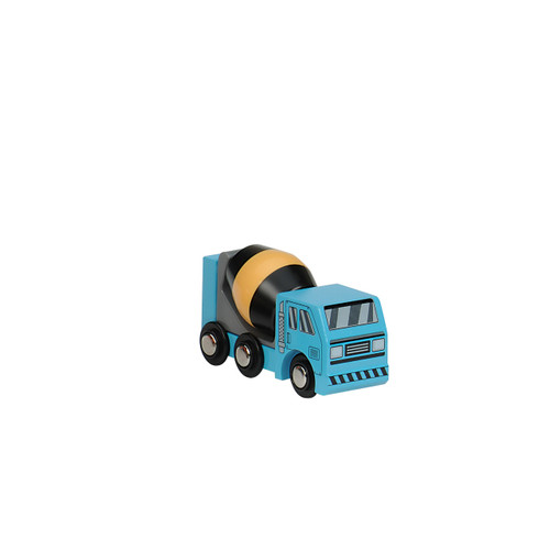 Blue Wooden Construction Vehicle