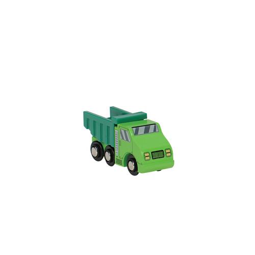 Green Wooden Dump Truck