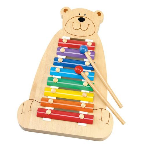 Wooden Musical Bear
