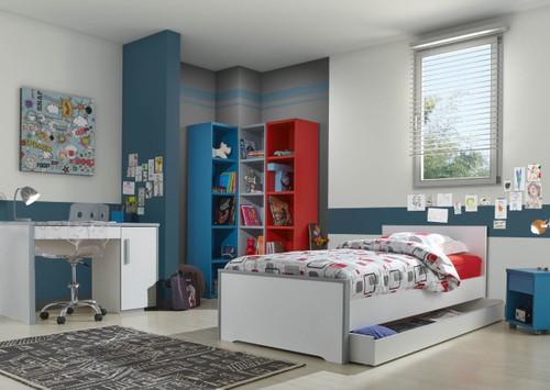 Dakota Blue Bookcase