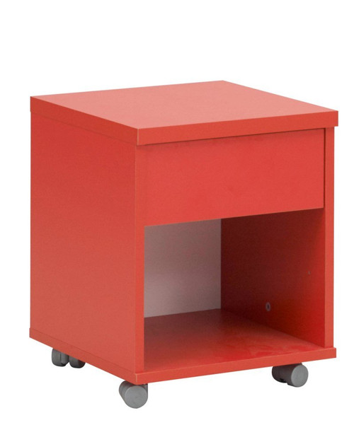 Dakota Red Bedside Cabinet