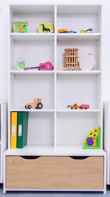 Treehouse Furniture Charterhouse Oak Double Shelf Storage Unit