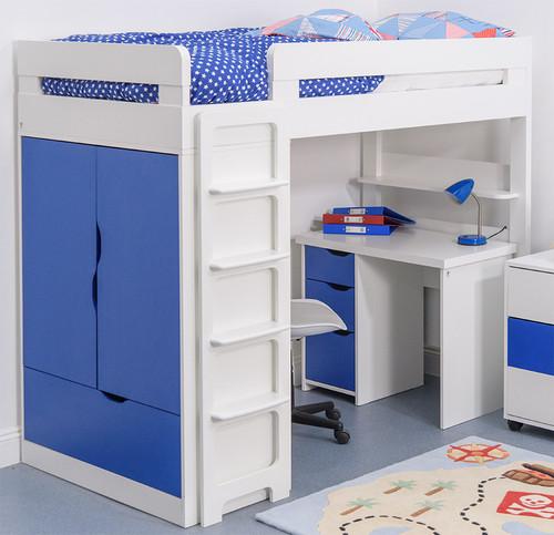 Treehouse Furniture Charterhouse Blue High Sleeper With Desk