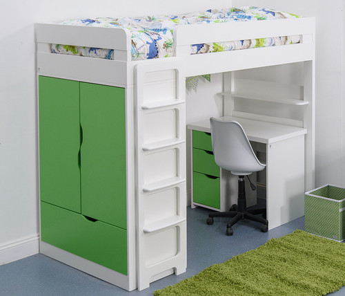 Treehouse Furniture Charterhouse Green High Sleeper With Desk