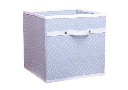 An image of Blue Polka Dot Storage Box