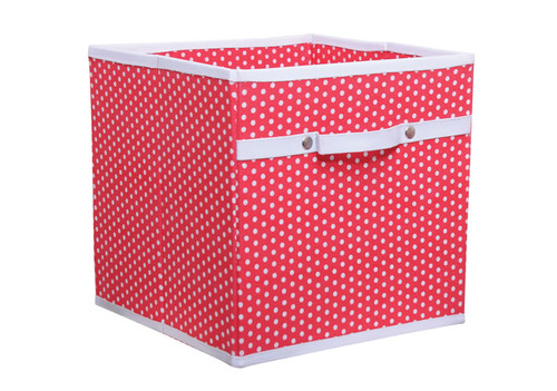 An image of Red Polka Dot Storage Box