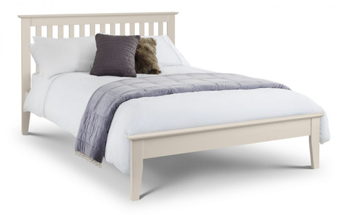An image of Salerno Shaker Bed 150cm Ivory