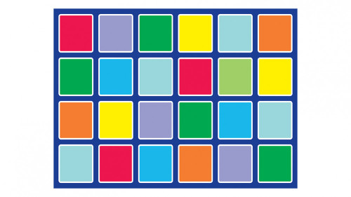 An image of Rainbow™ Rectangle Placement Mat