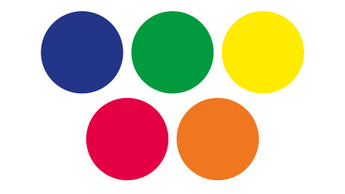 An image of Rainbow™ Circle Mats with FREE Holdall - Set of 30