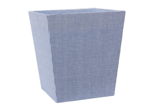 An image of Navy Blue Gingham Bin