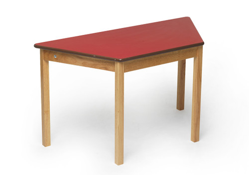 An image of Tuf Class Trapezoidal Table Red S4