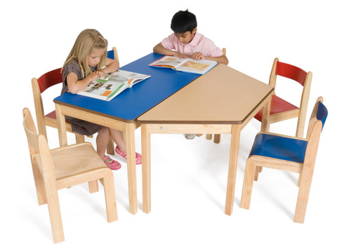 An image of Tuf Class Trapezoidal Table Beech S4