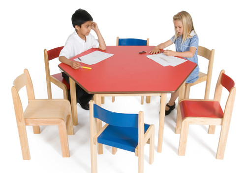 An image of Tuf Class Hexagonal Table Red S2