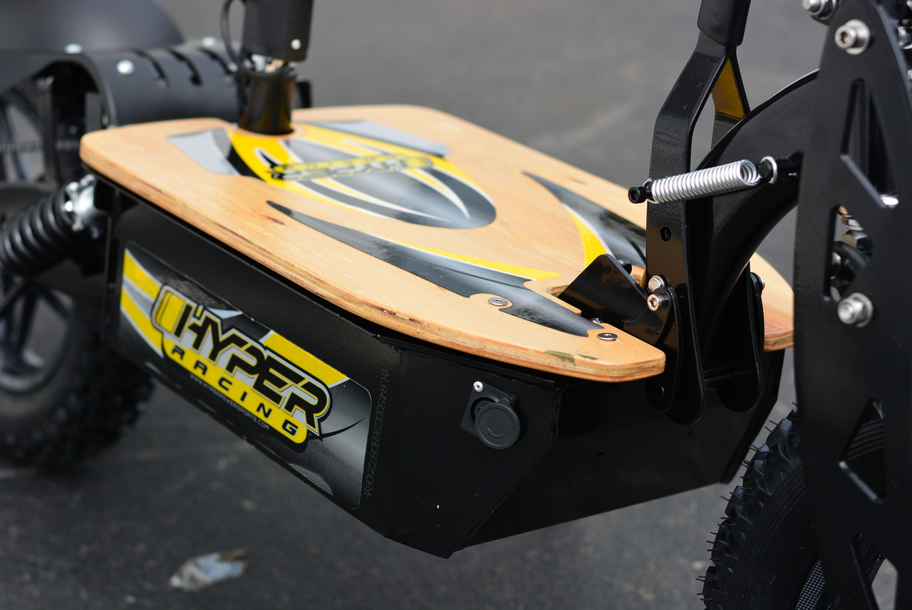 New! Wooden Deck W/Decal for Hyper Racing 2000w  60v Scooters