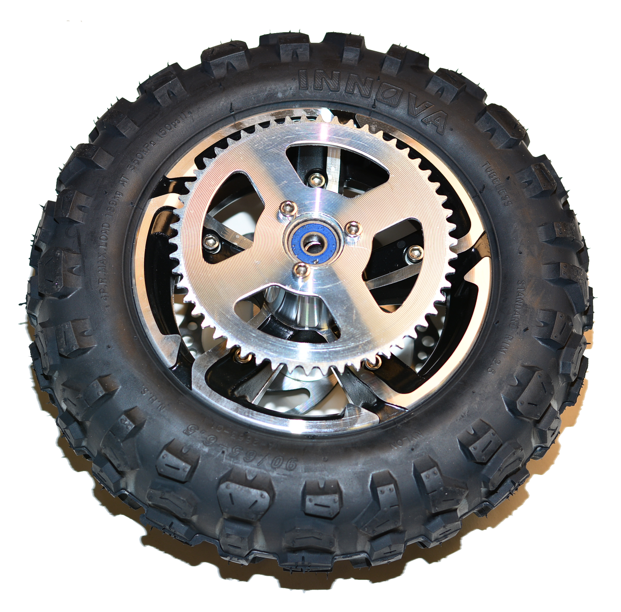 "Complete Factory Rear Off Road 6.5"" Wheel (Black) Hyper Racing 2000w 2 Piece Wheel"