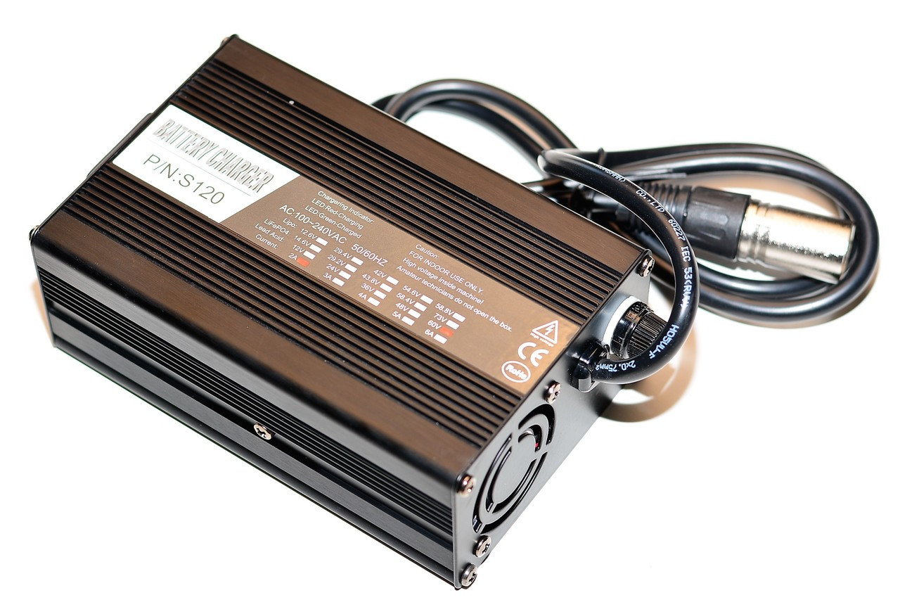 Fast 60v Metal Lead Acid battery Charger (3 pole) 2000w Scooter
