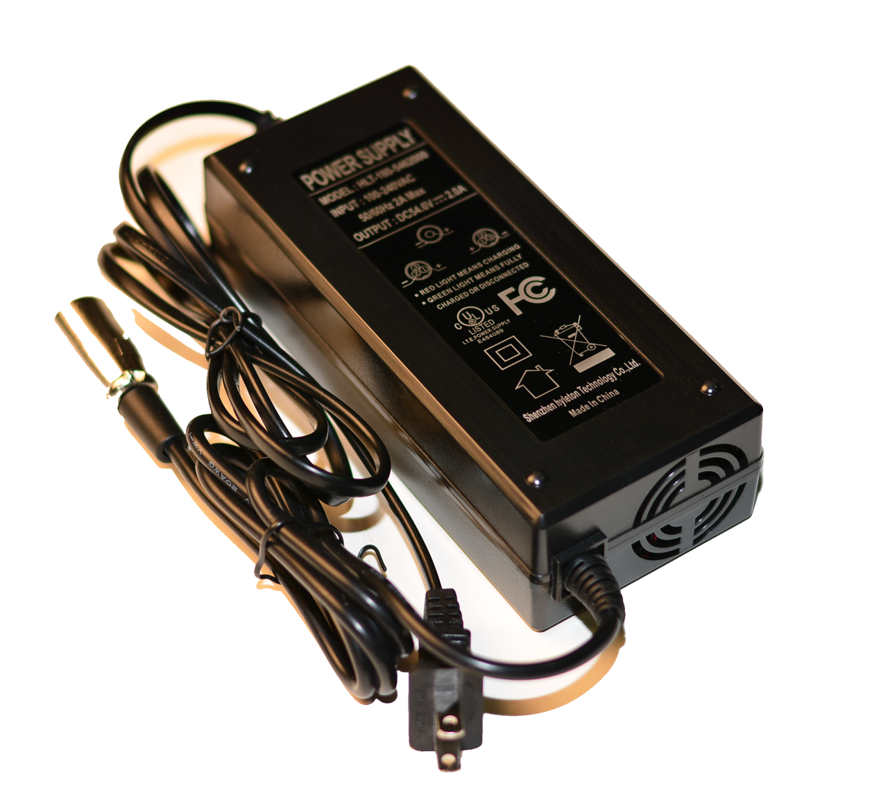 NEW! UPGRADED  48v Lithium Battery Fast Charger W/Fan (3 pole) 1600/1800w Scooters