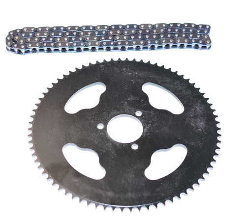 """NEW! Hill Climbing kits 72 tooth rear Sprocket & Chain for 10"""" Wheels only"""